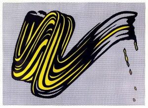 Brushstroke. Roy Lichtenstein, 1965.