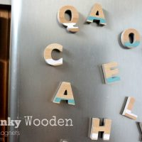 DIY Chunky Wooden Alphabet Magnets