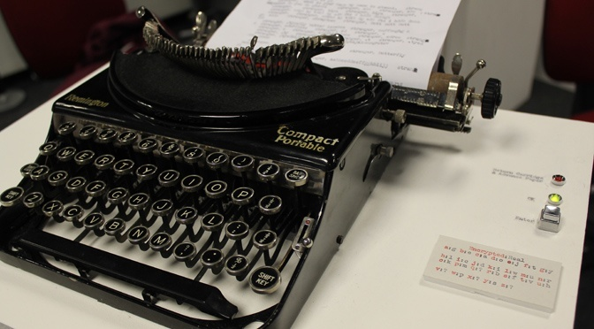 Using a 1930s typewriter to communicate old hat? Not when it's networked up