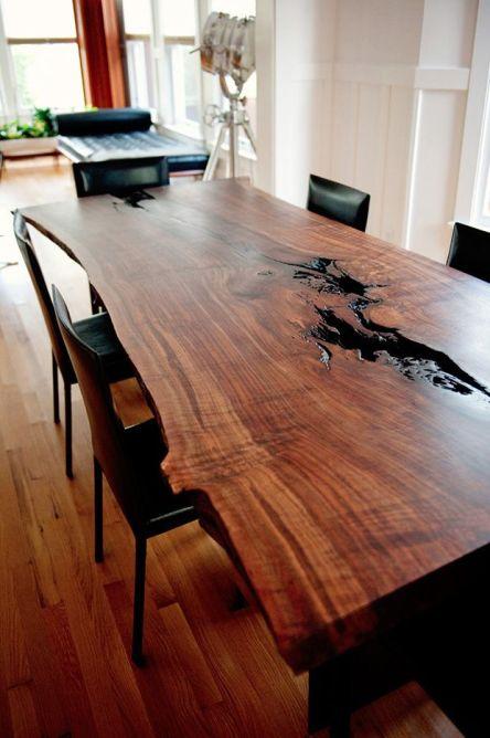 kütük ağaç masa örnekleri