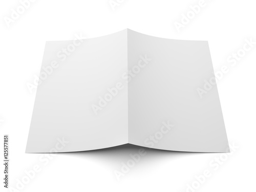 Blank folded flyer  booklet  postcard  business card or brochure     Blank folded flyer  booklet  postcard  business card or brochure mockup  template isolated on