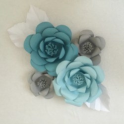 Small Crop Of Paper Flower Wall