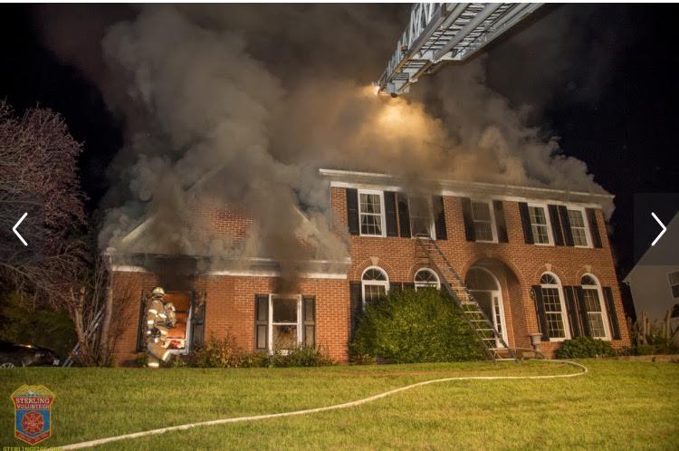 House Fire Augusta & Backwater Sterling, VA