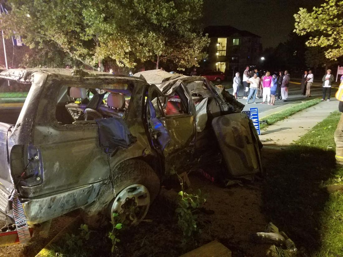 Auto Accident with Rollover on Gloucester Parkway, October 9, 2016
