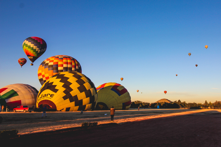 Hot Air Ballooning Over Teotihuacán