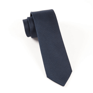The Tie Bar - Grenafaux Midnight Navy tie