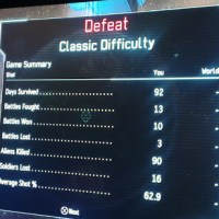 XCOM - Classic Ironman - Game #10 - fail