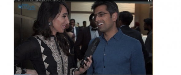 Director Richie Mehta at the London Indian Film Festival 2015 (video)