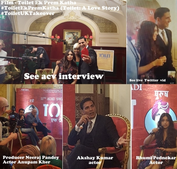'Toilet: Ek Prem Katha' (film) – interview Akshay Kumar & Bhumi Pednekar coming to our Youtube channel shortly…(subscribe and don't miss!)