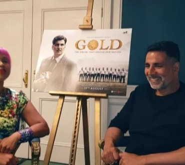 Akshay Kumar, Bollywood superstar, talks to us about latest film 'Gold' (see full interview soon, click below to watch clip!)