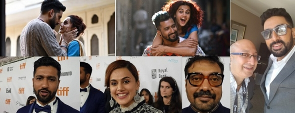 Abhishek Bachchan on Manmarziyaan ('Husband Material) – 'Robbie' is the man we should all aspire to be' and the joy of working with Kashyap, Kaushal and Pannu – and Red Carpet snippets (video)