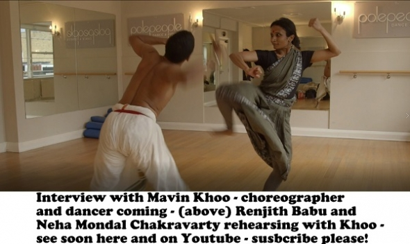 Darbar – Mavin Khoo talks to acv about the Indian classical dance festival and see him working with bharatanatyam dancers with Renjith Babu and Neha Mondal Chakravarty