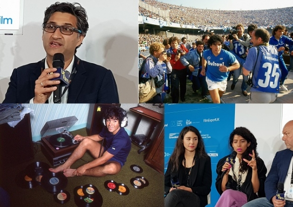 'Diego Maradona' – Asif Kapadia touching the feet of one of the greatest footballers on earth and getting the inside story for his documentary (Cannes Film Festival 2019)
