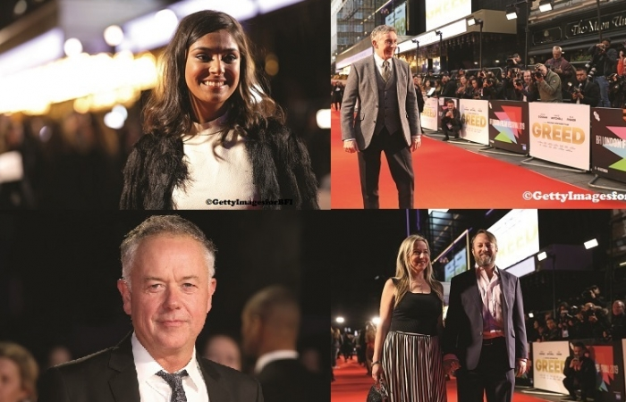 London Film Festival 2019: Greed – Red carpet glamour, Dinita Gohil, Steve Coogan, David Mitchell and others… (review of film as well)