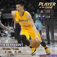 Jeremy Lin 3/3/2015 - Lakers vs Hornets - 23 Points, 8 Assists, 6 rebs, 9/16 fgs