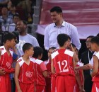 BEIJING, CHINA - JULY 01:  Yao Ming (R) and NBA star Tracy McGrady (L) watch the Yao Foundation Charity Game, sponsored by the charity foundation initiated by former Chinese basketball star Yao Ming, during the 2013 Yao Foundation Charity Game between China team and the NBA Stars team on July 1, 2013 in Beijing, China.  (Photo by Feng Li/Getty Images)