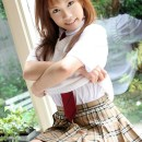Japanes school girl is undressing in apartments