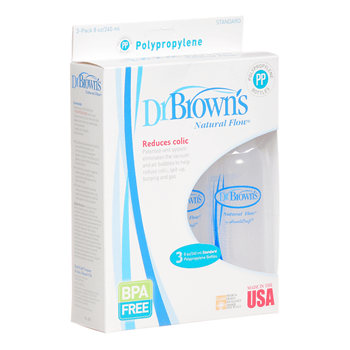 dr browns bpa-free plastic bottles 3x240ml