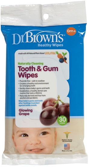 Dr Browns Tooth and Gum Wipes