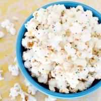 White Chocolate Confetti Popcorn