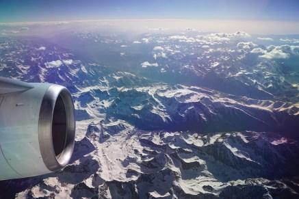 Flug über den Hindukusch/Afghanistan