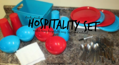 Ready-Made Hospitality Set makes being hospitable easy, fast, and natural