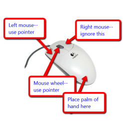 Mouse hand position