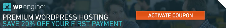 WP Engine 20% Off First Payment - Horizontal
