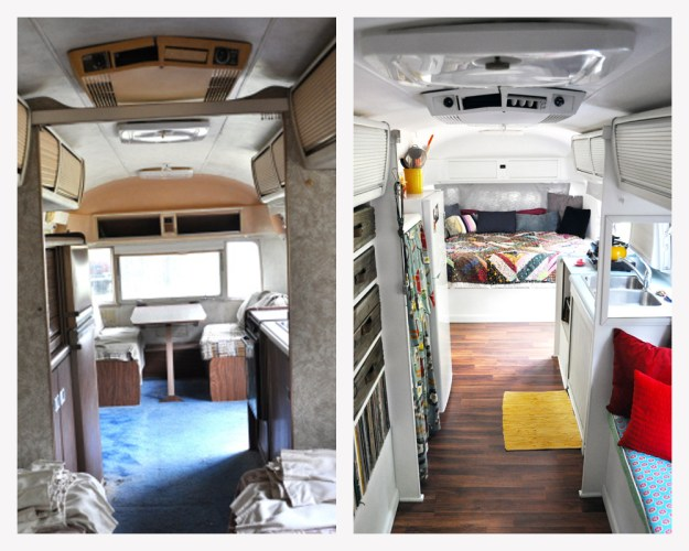 Airstream from Back before and after