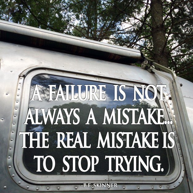A failure is not always a mistake... the real mistake is to stop trying.