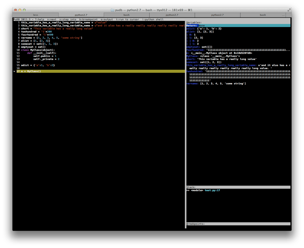 Hacking PuDB: Now an even better Python debugger (1/2)