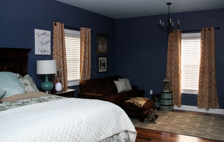 Pop Of Color In Our Master Bedroom A Southern Mother