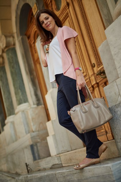 Follie Follie bag, Ann Taylor pants, Zara flats