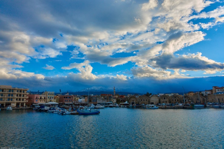 The Venetian dry docks in Chania old port