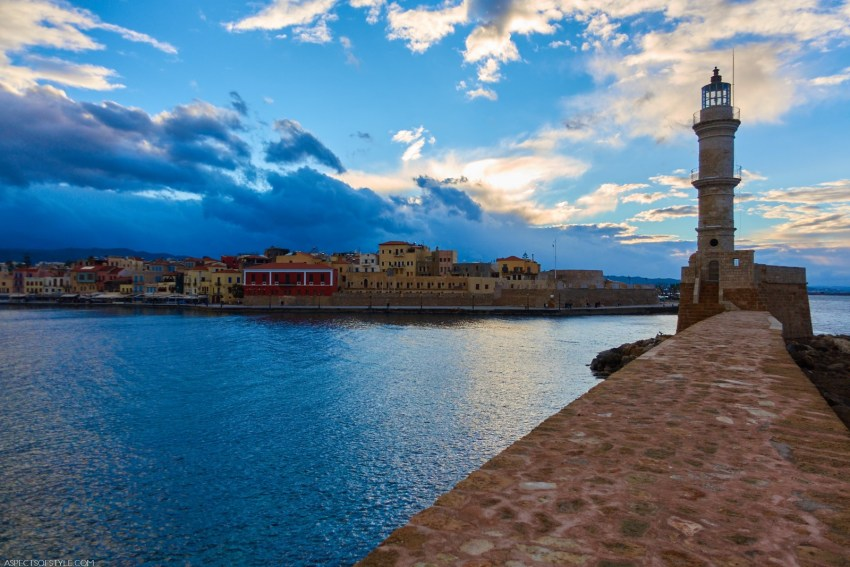 Chania old port and lighthouse, Crete