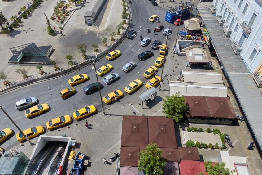 bird's eye view of Omonia square