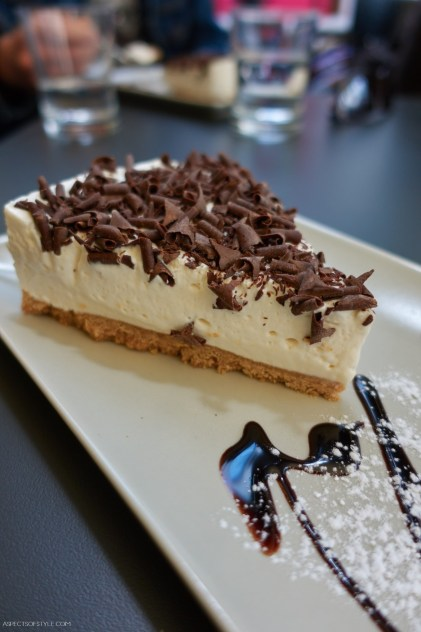 Cheesecake at Bistro 22, Rethymno, Crete, Greece