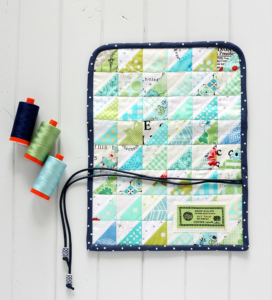 Patchwork Craft Tool Wrap - Free project from A Spoonful of Sugar