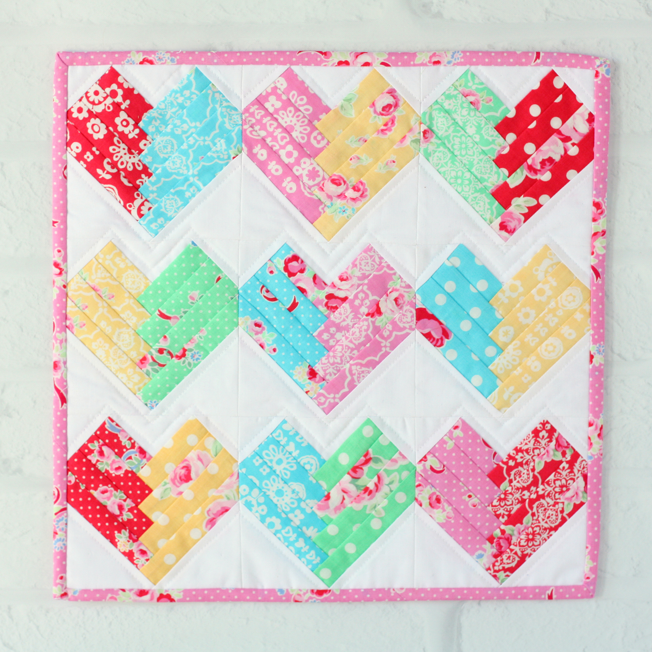 Mini Quilt Block Template Set : Heart of the Home Mini Quilt - A Spoonful of Sugar