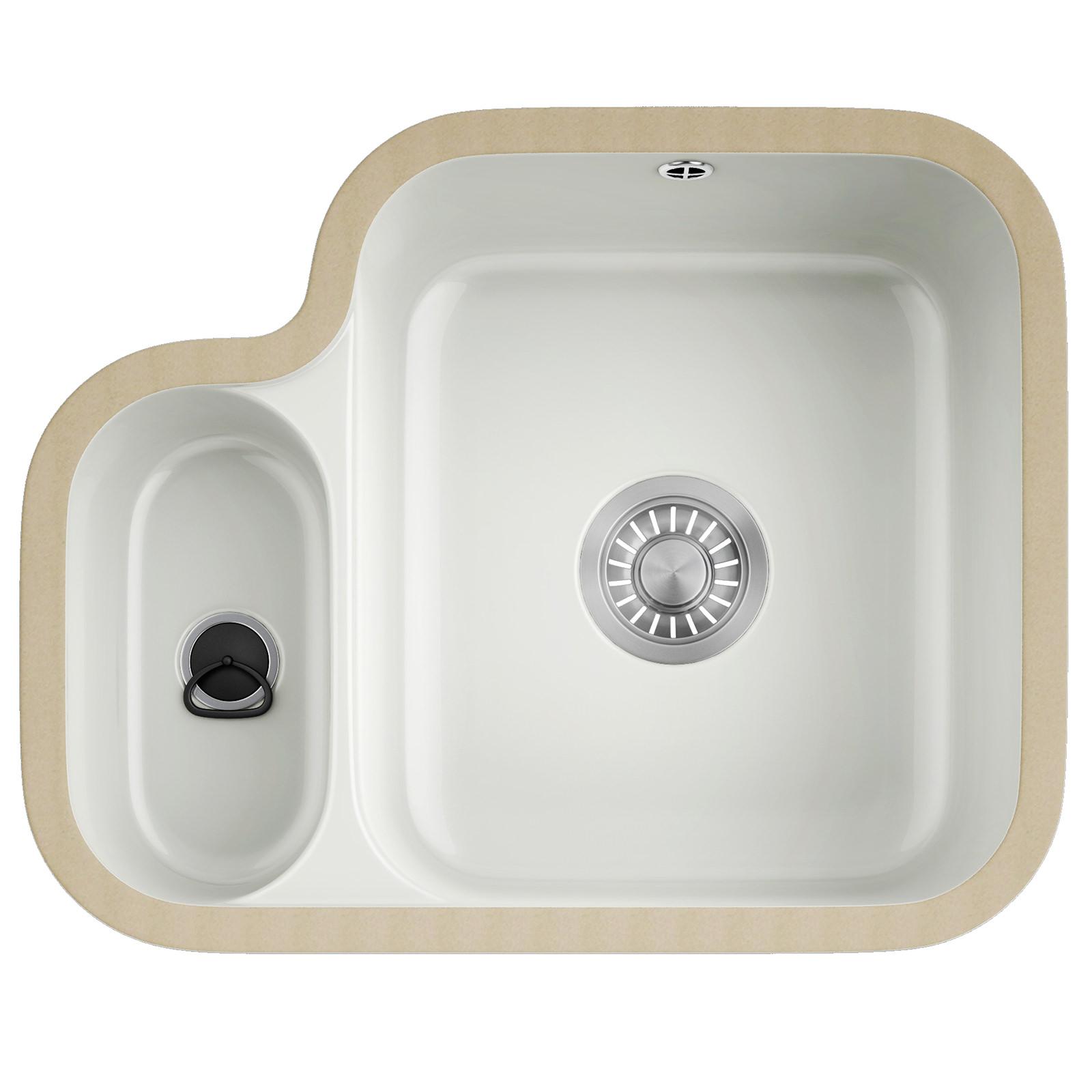 white kitchen sink undermount Franke V And B VBK Ceramic White 1 5 Bowl Undermount Kitchen Sink