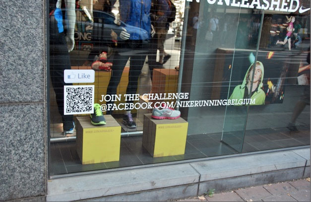 Nike QR Code Shop Window