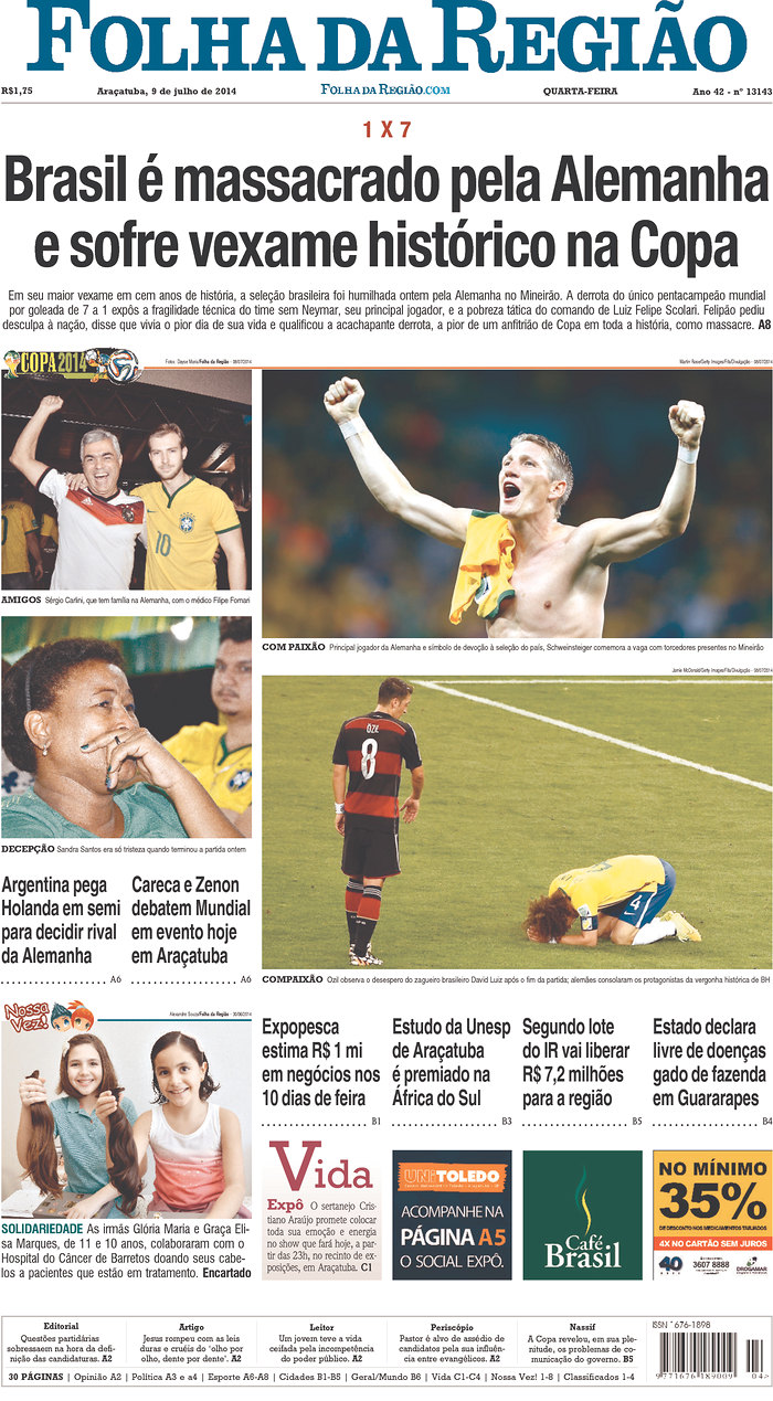 46 - Brazil is massacred by Germany and suffers a historic embarrassment in the World Cup