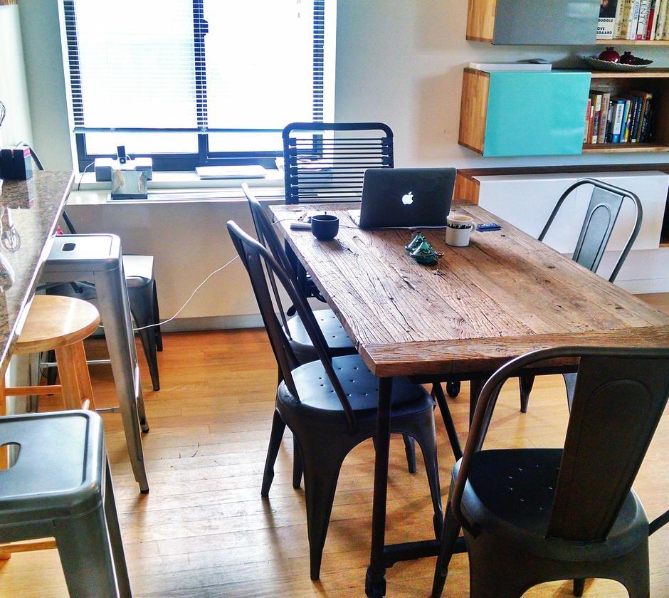 Cozinha do Windson Terrace CoWork no Brooklyn. Todos os espaços selecionados nesta matéria custam cinco dólares