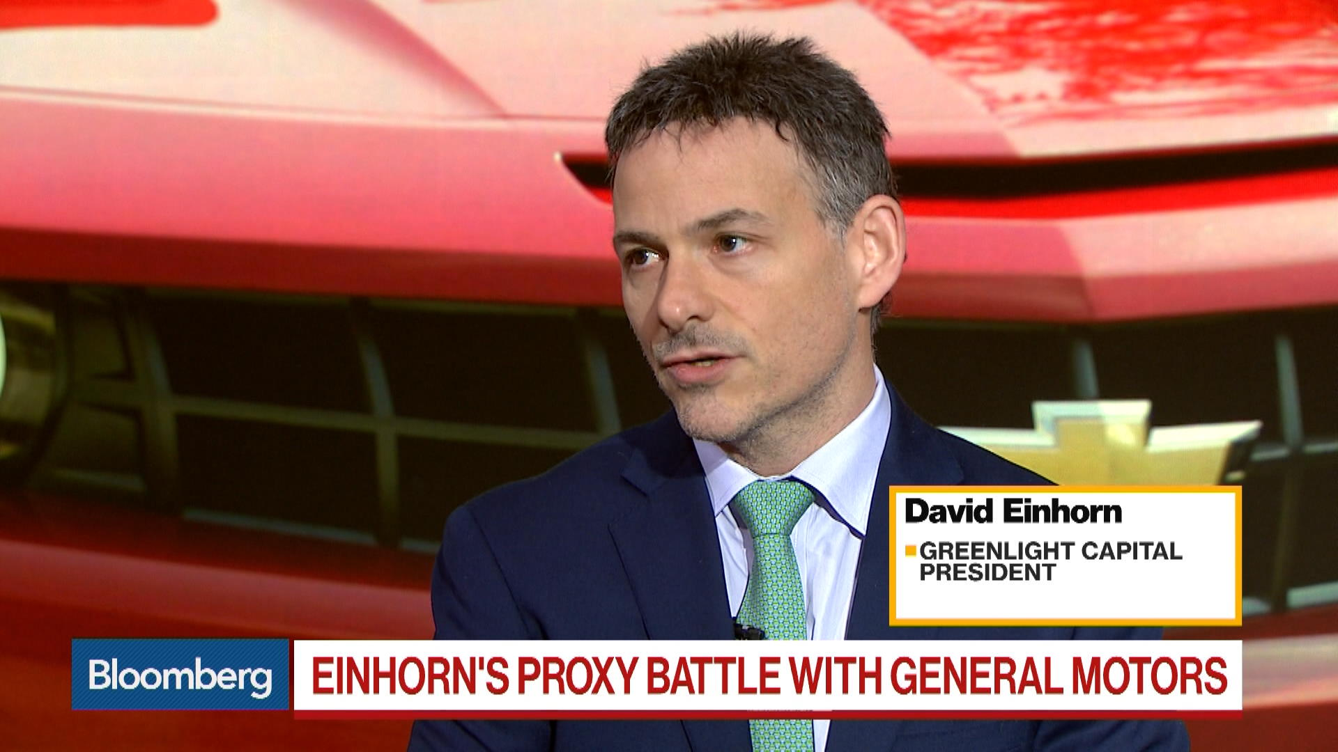 David Einhorn on GM Value  Tesla Profit  Apple     Bloomberg