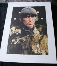George Harrison Limited Edition Artist Signed Print
