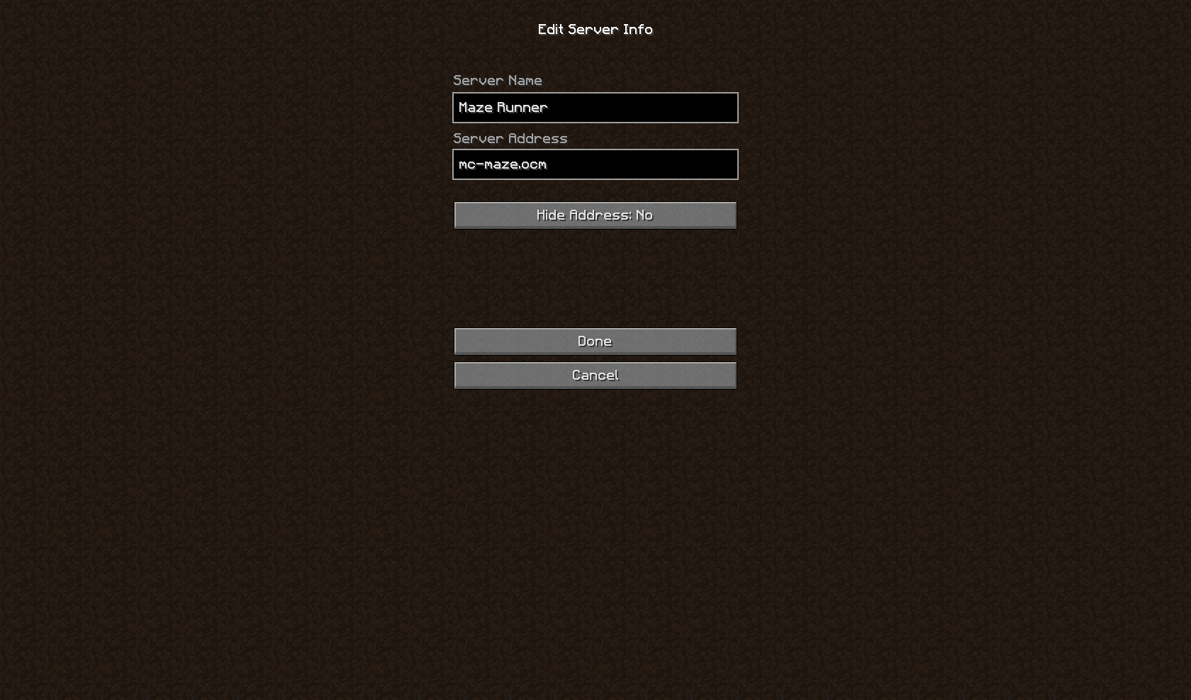 how to make a server address in minecraft
