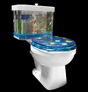 Fish ?N Flush Provides Bathroom Ambience   Gear Live