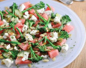 Tenderstem® broccoli, watermelon and feta salad