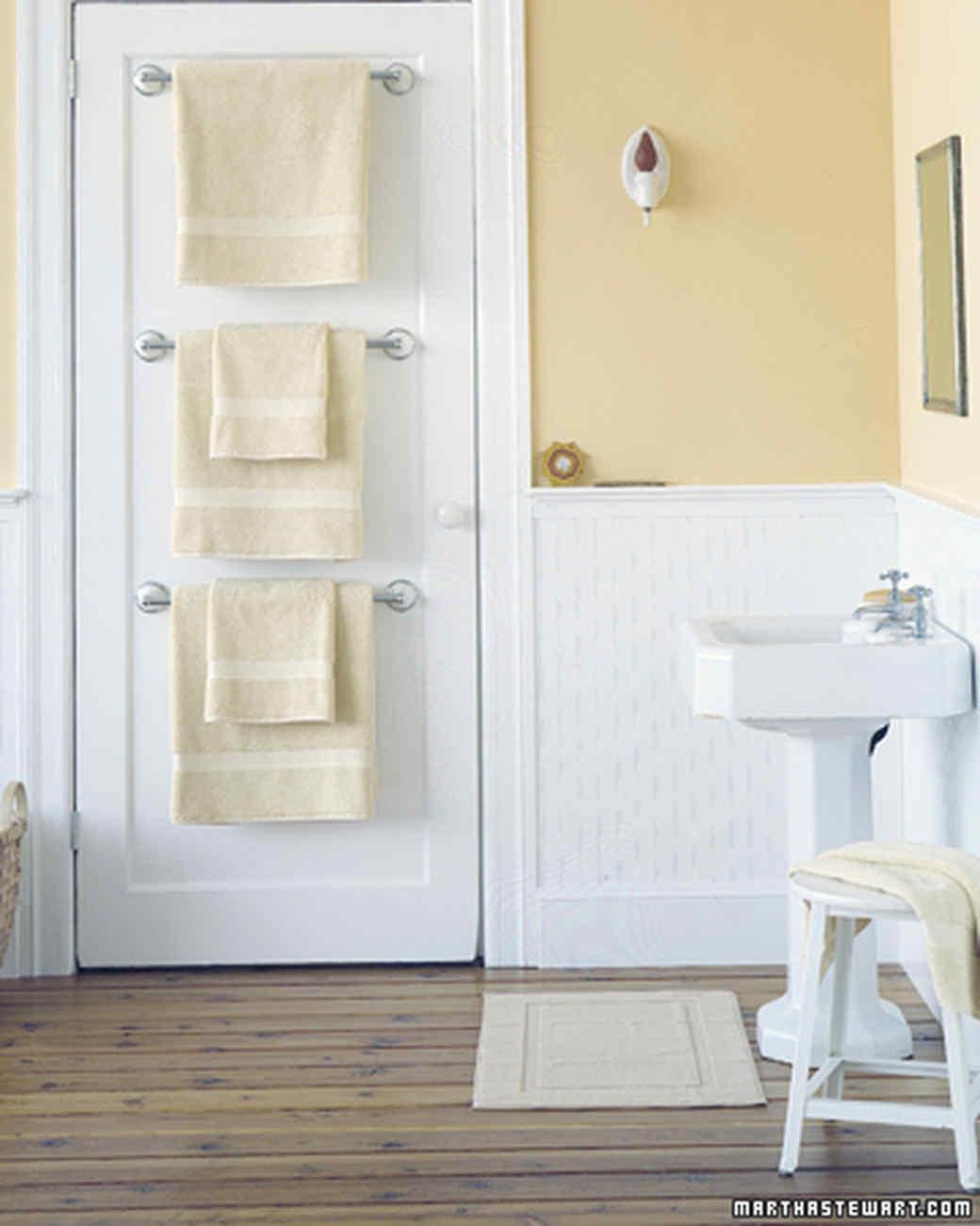 Pleasing Towel Bar Trio Bathroom Organizers Martha Stewart Bathroom Shelving Solutions bathroom Bathroom Shelving Solutions