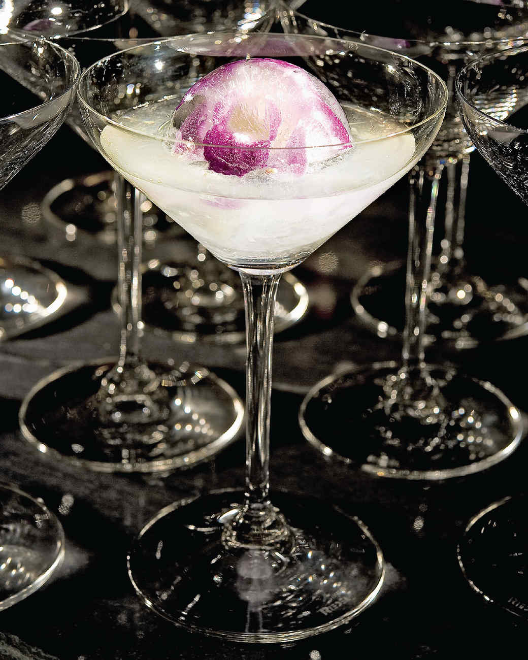A beautiful (and edible) orchid adorns this cocktail from Chef Daniel Boulud.